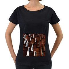 Abstract Architecture Building Business Women s Loose Fit T Shirt (black)