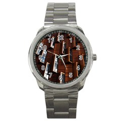 Abstract Architecture Building Business Sport Metal Watch