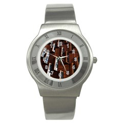 Abstract Architecture Building Business Stainless Steel Watch
