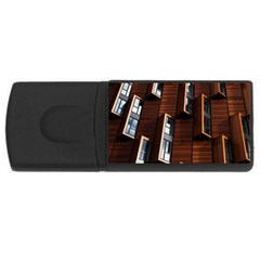 Abstract Architecture Building Business Usb Flash Drive Rectangular (4 Gb)