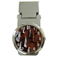 Abstract Architecture Building Business Money Clip Watches