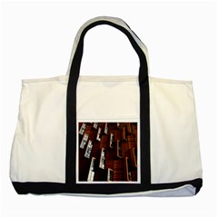 Abstract Architecture Building Business Two Tone Tote Bag