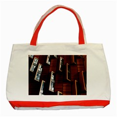 Abstract Architecture Building Business Classic Tote Bag (red)