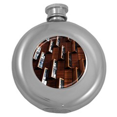 Abstract Architecture Building Business Round Hip Flask (5 Oz)