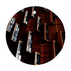 Abstract Architecture Building Business Round Ornament (two Sides)