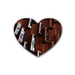 Abstract Architecture Building Business Rubber Coaster (heart)