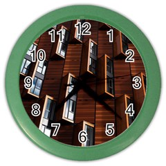 Abstract Architecture Building Business Color Wall Clocks