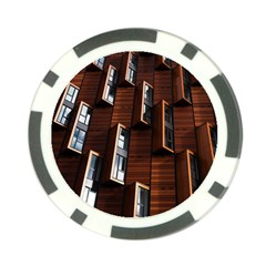 Abstract Architecture Building Business Poker Chip Card Guards