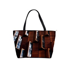 Abstract Architecture Building Business Shoulder Handbags