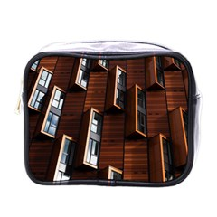 Abstract Architecture Building Business Mini Toiletries Bags