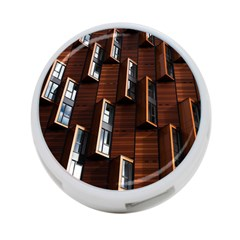 Abstract Architecture Building Business 4 Port Usb Hub (two Sides)