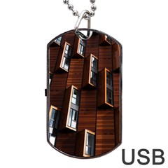 Abstract Architecture Building Business Dog Tag Usb Flash (two Sides)