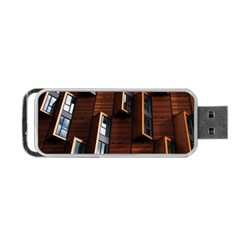 Abstract Architecture Building Business Portable Usb Flash (two Sides)
