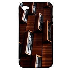 Abstract Architecture Building Business Apple Iphone 4/4s Hardshell Case (pc+silicone)