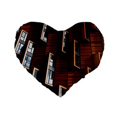 Abstract Architecture Building Business Standard 16  Premium Heart Shape Cushions