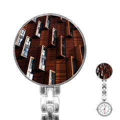 Abstract Architecture Building Business Stainless Steel Nurses Watch
