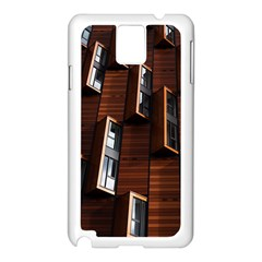 Abstract Architecture Building Business Samsung Galaxy Note 3 N9005 Case (white)