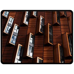 Abstract Architecture Building Business Double Sided Fleece Blanket (large)