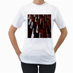 Abstract Architecture Building Business Women s T Shirt (white)