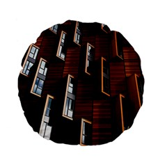 Abstract Architecture Building Business Standard 15  Premium Flano Round Cushions