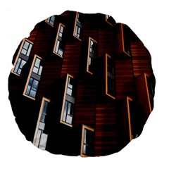 Abstract Architecture Building Business Large 18  Premium Flano Round Cushions