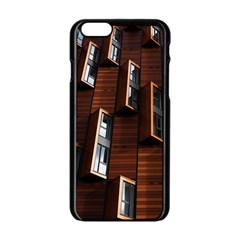Abstract Architecture Building Business Apple Iphone 6/6s Black Enamel Case