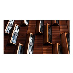 Abstract Architecture Building Business Satin Shawl