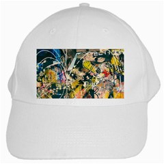 Art Graffiti Abstract Vintage Lines White Cap