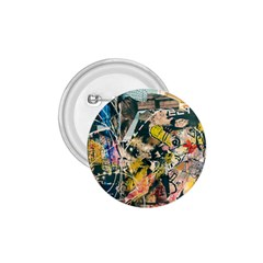 Art Graffiti Abstract Vintage Lines 1 75  Buttons
