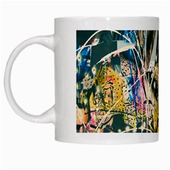 Art Graffiti Abstract Vintage Lines White Mugs