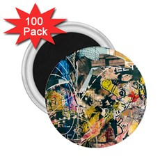 Art Graffiti Abstract Vintage Lines 2 25  Magnets (100 Pack)