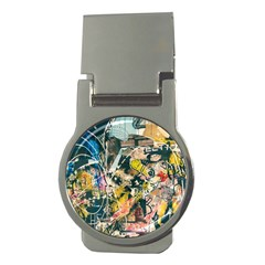 Art Graffiti Abstract Vintage Lines Money Clips (round)