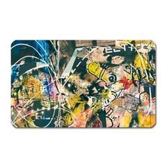 Art Graffiti Abstract Vintage Lines Magnet (rectangular)