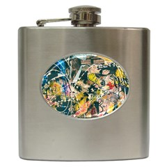Art Graffiti Abstract Vintage Lines Hip Flask (6 Oz)