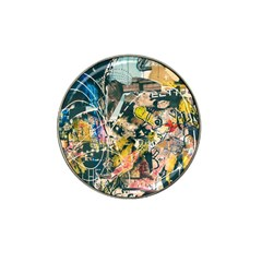 Art Graffiti Abstract Vintage Lines Hat Clip Ball Marker (4 Pack)