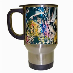 Art Graffiti Abstract Vintage Lines Travel Mugs (white)