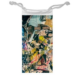 Art Graffiti Abstract Vintage Lines Jewelry Bag