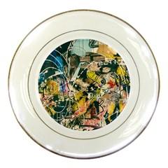 Art Graffiti Abstract Vintage Lines Porcelain Plates