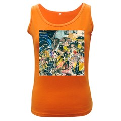 Art Graffiti Abstract Vintage Lines Women s Dark Tank Top