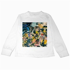 Art Graffiti Abstract Vintage Lines Kids Long Sleeve T Shirts