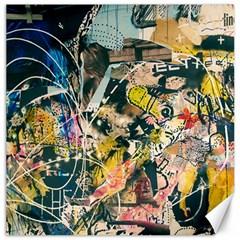 Art Graffiti Abstract Vintage Lines Canvas 12  x 12