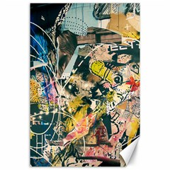 Art Graffiti Abstract Vintage Lines Canvas 24  X 36