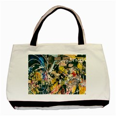 Art Graffiti Abstract Vintage Lines Basic Tote Bag (two Sides)