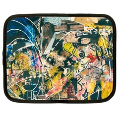 Art Graffiti Abstract Vintage Lines Netbook Case (large)