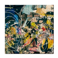 Art Graffiti Abstract Vintage Lines Face Towel