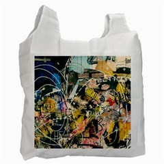 Art Graffiti Abstract Vintage Lines Recycle Bag (one Side)