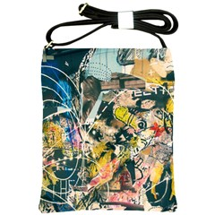 Art Graffiti Abstract Vintage Lines Shoulder Sling Bags