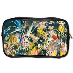 Art Graffiti Abstract Vintage Lines Toiletries Bags 2 Side