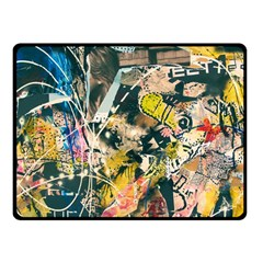 Art Graffiti Abstract Vintage Lines Fleece Blanket (small)