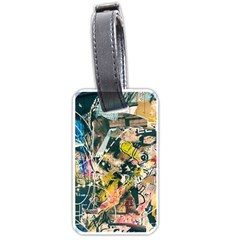 Art Graffiti Abstract Vintage Lines Luggage Tags (one Side)